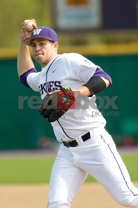 The University of Washington baseball team competes against Gonzaga University at Husky Ballpark  in Seattle, Wash. on Tuesday April 10, 2012.(Photo by Scott Eklund /Red Box Pictures) Robert Pehl.