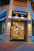 Juicy Couture, El Paseo Drive, Palm Desert, CA, Boutiques; famous; retailers; fashion; haute couture; shopping; Mannequins; near Palm Springs; Palm Trees; California; Coachella Valley; Desert; High dynamic range imaging (HDRI or HDR)