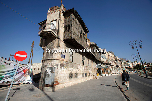 Buildings and pedestrian ring as seen around the Citadel in Aleppo, Syria on November 08, 2010. (Salah Malkawi)