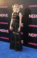 NEW YORK, NY-July 12: Emma Roberts at Lionsgate presents the World Premiere of NERVE   at SVA Theater in New York. NY July 12, 2016. Credit:RW/MediaPunch