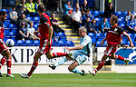 St Johnstone v Bristol City....28.07.12  Pre-Season Friendly.Jamie Adams has a shot at goal.Picture by Graeme Hart..Copyright Perthshire Picture Agency.Tel: 01738 623350  Mobile: 07990 594431