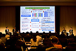 Food Summit in Sendai, Miyagi Prefecture, Japan on 30 Nov. 2011. .Photographer: Robert GilhoolyGota Otaka (1R), director of METI's Commerce and Information Policy Bureau, speaks during a round-table discussion at the Food Industry Summit 2011 in Sendai, Japan on November 30, 2011. .Photographer: Robert Gilhooly
