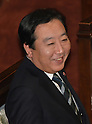 January 24, 2012, Tokyo, Japan - Japans Prime Minister Yoshihiko Noda has a cordial moment before delivering his policy speech as the ordinary session of the Diet convenes in Tokyo on Tuesday, January 24, 2012..Noda is expected to face a negotiation with the opposition camps on the passage of bills to raise the nations sales tax from the current five percent to eight percent in April 2014 and 10 percent in October 2015. The opposition bloc is taking a confrontational approach and stepping up efforts to dissolve the lower house for an election. (Photo by Natsuki Sakai/AFLO) AYF -mis-.