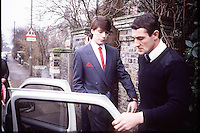 Pix: Copyright Anglia Press Agency/Archived via SWpix.com. The Bamber Killings. August 1985. Murders of Neville and June Bamber, daughter Sheila Caffell and her twin boys. Jeremy Bamber convicted of killings serving life...copyright photograph>>Anglia Press Agency>>07811 267 706>>..Jeremy Bamber in handcuffs, escorted by police. no date..ref 0005 neg 10....