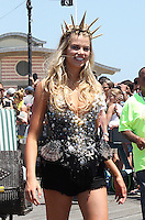NEW YORK, NY - JUNE 18:  Hailey Clauson, Sports Illustrated Swimsuit issue cover model, is the Mermaid Queen at Coney Island's 34th annual Mermaid Parade in New York, New York on June 18, 2016.  Photo Credit: Rainmaker Photo/MediaPunch