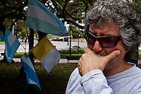 A man cries as he attends a rally during a commemoration of the Malvinas veteran day in Buenos Aires April 2, 2013. Photo by Juan Gabriel Lopera / VIEWpress.