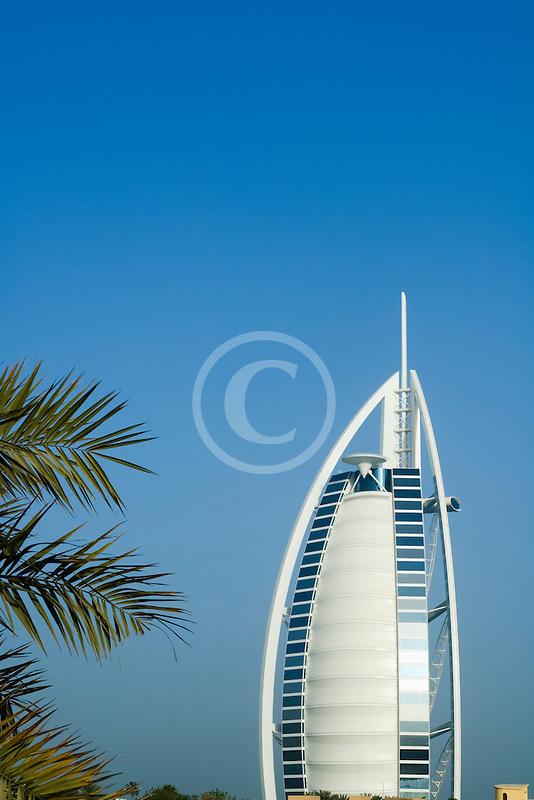 United Arab Emirates, Dubai, Burj Al Arab and palms