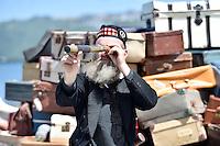 Conrad Coon, Petone Settlers 175th Anniversary on the Petone Foreshore, Lower Hutt, New Zealand on Sunday 19 January 2015. <br /> Photo by Masanori Udagawa.<br /> www.photowellington.photoshelter.com.