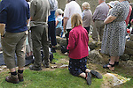 The annual Padley Martyrs Roman Catholic Pilgrimage. Padley, Padley Chapel, Grindleford, Derbyshire  UK 2008.