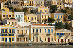 Harbor and homes in Simi, Greecei