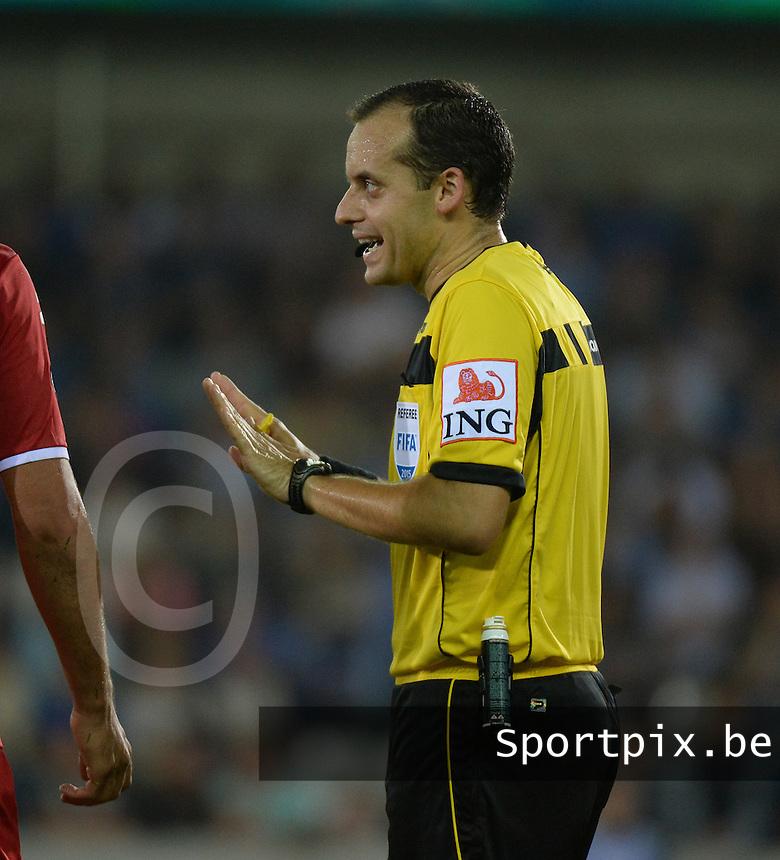 Club Brugge - KV Kortrijk : scheidsrechter Alexandre Boucaut <br /> Foto VDB / Bart Vandenbroucke