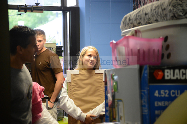 Students move into the dorms on South Campus on August 17th, 2012. Photo by Mike Weaver | Staff