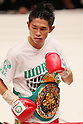 Kazuto Ioka (JPN), AUGUST 10, 2011 - Boxing : Kazuto Ioka of Japan celebrates with his Champion belt during the WBC Minimum weight title bout at Korakuen Hall, Tokyo, Japan. Kazuto Ioka of Japan won the fight on points after twelve rounds. (Photo by Yusuke Nakanishi/AFLO) [1090]