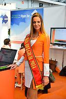 Laurence Langen, Miss Belgique 2014  à la 11ème édition du salon Entreprendre - Belgique