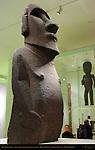 Hoa Hakananai'a, lost or stolen friend, Moai, ancestor figure, Basalt, Rapanui, Easter Island c. 1200, British Museum, London, England, UK