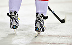 10 February 2010: Washington Capitals' left wing forward and Team Captain Alex Ovechkin's custom skates are shown prior to a game against the Montreal Canadiens at the Bell Centre in Montreal, Quebec, Canada. The Canadiens defeated the Capitals 6-5 in sudden death overtime, ending Washington's team-record winning streak at 14 games. Mandatory Credit: Ed Wolfstein Photo