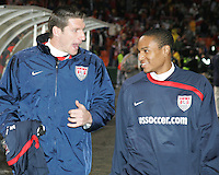 Kenny Cooper #11 and Ricardo Clark #13 of the USA during a 2010 World Cup qualifying match in the CONCACAF region against Costa Rica at RFK Stadium on October 14 2009, in Washington D.C.The match ended in a 2-2 tie.