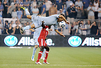 Sporting KC were held to a scoreless tie with Chicago Fire in the inauguarl game at LIVESTRONG Sporting Park, Kansas City, Kansas.