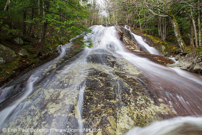 Waternomee Brook Cascades along Waternomee Brook, a tributary of Lost River, in Kinsman Notch of Woodstock, New Hampshire USA during the spring months.