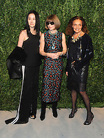NEW YORK, NY - NOVEMBER 07: Vera Wang, Anna Wintour, Diane von Furstenberg attends 13th Annual CFDA/Vogue Fashion Fund Awards at Spring Studios on November 7, 2016 in New York City. Photo by John Palmer/ MediaPunch