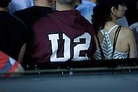 The crowd enjoying U2 performing at Etihad Stadium, Melbourne on their 360 tour, 1 December 2010