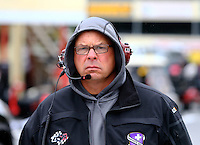 Oct 3, 2015; Mohnton, PA, USA; NHRA funny car crew chief Jimmy Prock during qualifying for the Keystone Nationals at Maple Grove Raceway. Mandatory Credit: Mark J. Rebilas-USA TODAY Sports