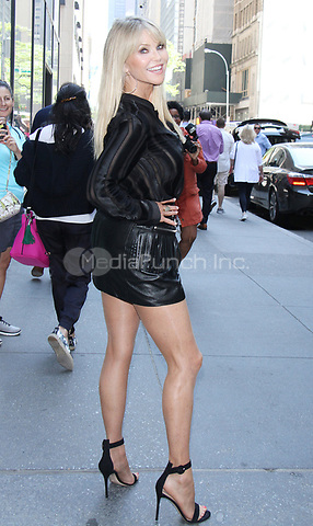 NEW YORK, NY - MAY 17: Christie Brinkley at Access Hollywood Live promoting her new Bellissima line of organic Prosecco in New York City on May 17, 2017. Credit: RW/MediaPunch