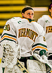 13 November 2015: University of Vermont Catamount Goaltender Madison Litchfield, a Junior from Williston, VT, takes to the ice prior to facing the Providence College Friars at Gutterson Fieldhouse in Burlington, Vermont. The Lady Friars defeated the Lady Cats 4-1 in Hockey East play. Mandatory Credit: Ed Wolfstein Photo *** RAW (NEF) Image File Available ***