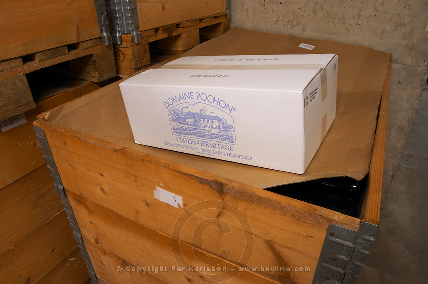 wine case chateau curson dom pochon crozes hermitage rhone france