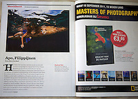 Image and text about Apo Island in National Geographic Traveller.