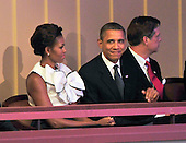 "United States President Barack Obama and first lady Michelle Obama watch the performance of ""The Washington National Cathedral's A Call to Compassion"" Concert for Hope to commemorate the 10th anniversary of the terrorist attacks in New York, New York and Washington, D.C. on Sunday, September 11, 2011.Credit: Ron Sachs / Pool via CNP"