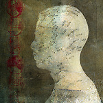 Acupuncture head. Photo based illustration.