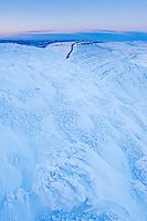 Winter view from Pen Y Fan towards Corn Du, Brecon Beacons national park, Wales
