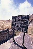 Bobadilla Volcano Warning Sign Nicaragua