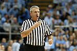 14 February 2016: Referee Bryan Kersey. The University of North Carolina Tar Heels hosted the University of Pittsburgh Panthers at the Dean E. Smith Center in Chapel Hill, North Carolina in a 2015-16 NCAA Division I Men's Basketball game. UNC won the game 85-64.