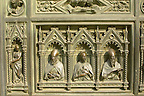 The Dome Catheral -Detail Of Bronze Doors - Florence Italy