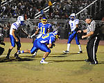Oxford High's Collin Le (33) scores vs. Saltillo in Oxford, Miss. on Friday, October 19, 2012. Oxford won to improve to 9-0.