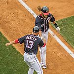 29 May 2016: Washington Nationals outfielder Jayson Werth rounds the bases after hitting a grand slam in the 7th inning against the St. Louis Cardinals at Nationals Park in Washington, DC. The Nationals defeated the Cardinals 10-2 to split their 4-game series. Mandatory Credit: Ed Wolfstein Photo *** RAW (NEF) Image File Available ***