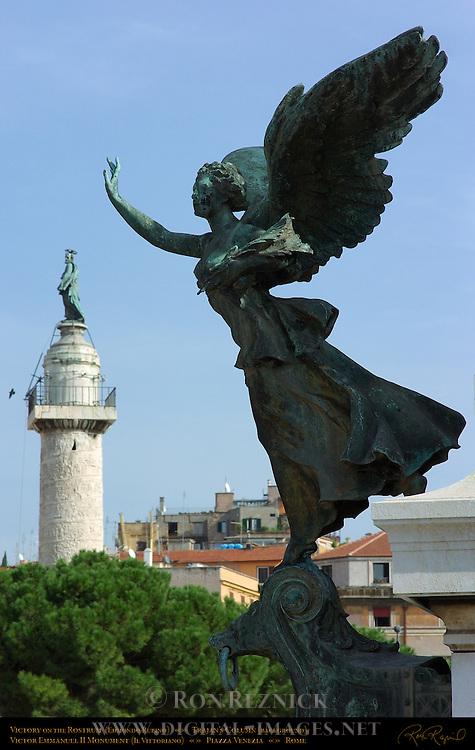 Winged Victory Victory on the Rostrum Edmondo Rubino Trajan's Column Victor Emmanuel II Monument Piazza Venezia Rome