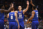 MILWAUKEE, WI - MARCH 16:  Middle Tennessee Blue Raiders forward Reggie Upshaw (30) celebrates with his teammates during the second half of the 2017 NCAA Men's Basketball Tournament held at BMO Harris Bradley Center on March 16, 2017 in Milwaukee, Wisconsin. (Photo by Jamie Schwaberow/NCAA Photos via Getty Images)