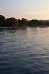 Sunset on Lake Michigan in Traverse City, Michigan in summer, USA