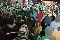 NEW YORK - MANHATTAN 01/01/2013 - CAPODANNO A NEW YORK. NELLA FOTO A CENTRAL PARK SI è CORSA LA MIDNIGHT RUN ORGANIZZATA DALLA NEW YORK ROAD RUNNERS - GLI ORGANIZZATORI DELLA NY CITY MARHATON -.FOTO DILORETO ADAMO