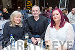 The wife of Christie Hennessy Gill Ross, with Frank Hartnett and Lesley Knight at the Troubadour night on Friday at the Rose Hotel part of the Christie Hennessy Weekend