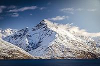 Snow covered Walter Peak, Winter, Queenstown, New Zealand - Landscape photography canvas prints, fine art print