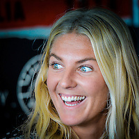 Margaret River, Western Australia. (Tuesday April 1, 2014) Stephanie Gilmore (AUS). –  The 2014 Drug Aware Margaret River Pro World Championship Tour event is about to kick off tomorrow and in preparation some of the worlds  best male and female surfers attended a press conference this morning at the contest site to promote the contest. Photo: joliphotos.com