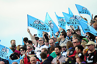 Glasgow Warriors fans in the crowd show their support. European Rugby Champions Cup Quarter Final, between Saracens and Glasgow Warriors on April 2, 2017 at Allianz Park in London, England. Photo by: Patrick Khachfe / JMP