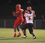 Lafayette High's Jeremy Liggins (1) passes vs. Pontotoc in Oxford, Miss. on Friday, September 23, 2011. Lafayette won 48-7 for the school's 22nd consecutive win.