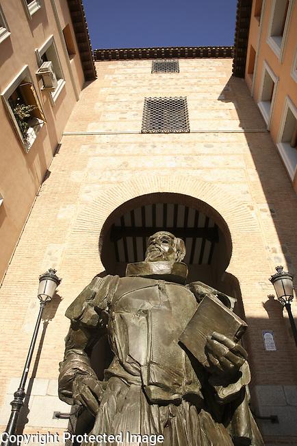 Statue to Cervantes, Toledo, Castile La Mancha, Spain