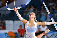 Caroline Weber of Austria performs with ribbon at 2010 Holon Grand Prix at Holon, Israel on September 3, 2010.  (Photo by Tom Theobald).