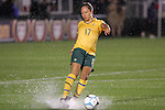 27 April 2008: Kyah Simon (AUS). The United States Women's National Team defeated the Australia Women's National Team 3-2 at WakeMed Stadium in Cary, NC in a rain delayed women's international friendly soccer match.